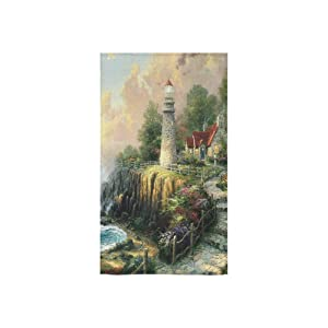Lighthouse Sea Landscape Buildings Custom Beach Hotel Travel Washcloth Hand Towel Warmer Soft and Comfortable 80% Polyester 20% Cotton, (16