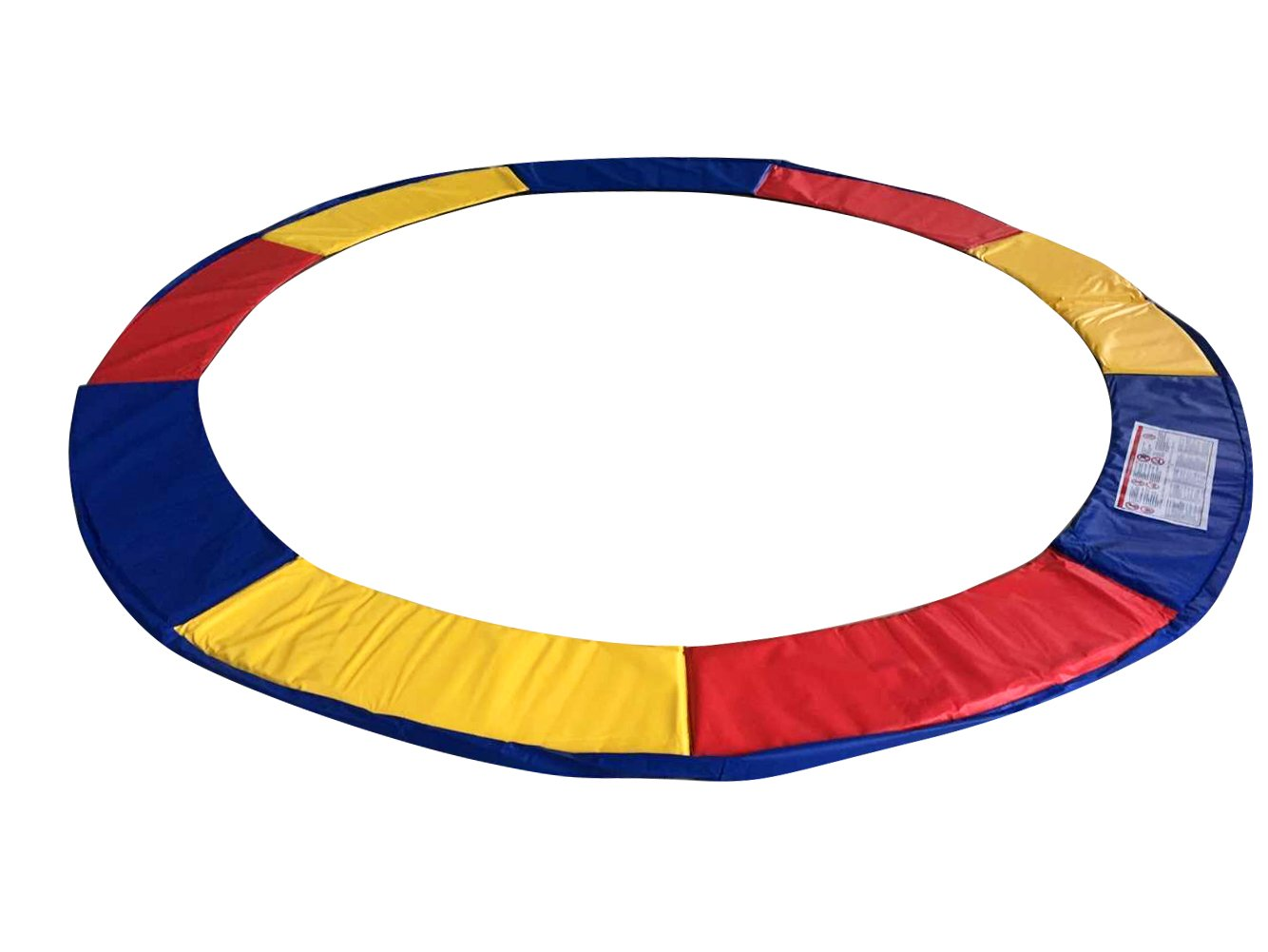 Exacme 15 Feet Trampoline Replacement Safety Spring Cover Round Frame Pad Without Holes, Multicolored by Exacme