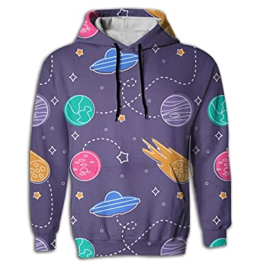 45fc936b5 BINGGOO Space Planets Novelty Hoodies for Men Cool Tie Dye Sweatshirts at  Amazon Men's Clothing store: