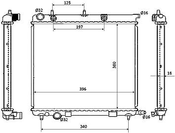 refrigeraci/ón del motor NRF 53863 Radiador