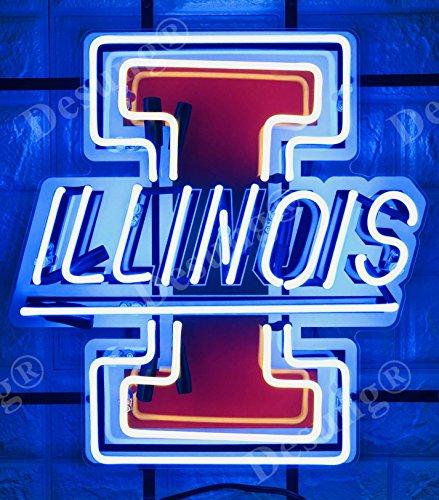 Illinois Neon Sign Illinois Fighting Illini Neon Sign