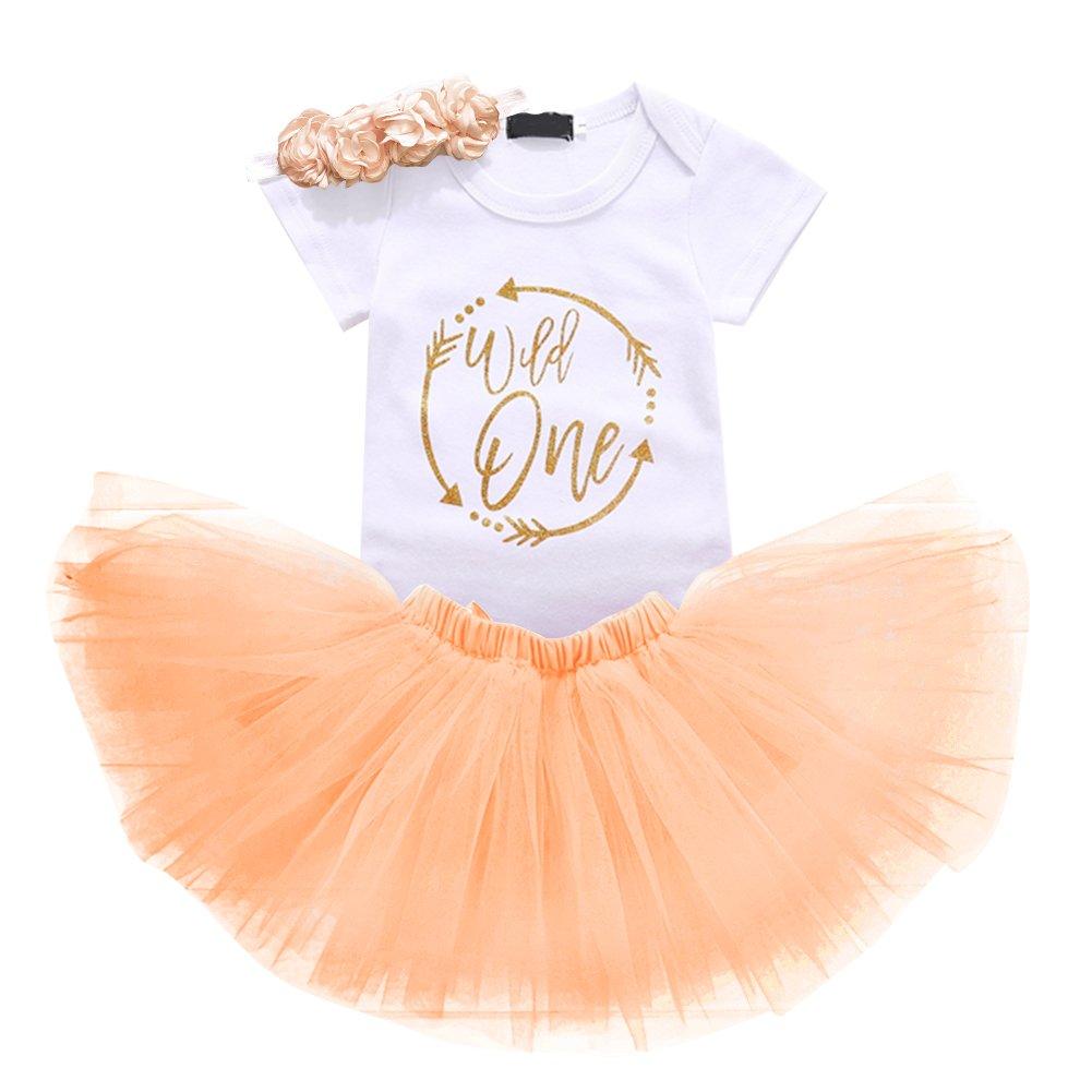 OwlFay Wild Unicorn Ladybug One Year Baby Girls 1st Birthday Dress Tutu Outfits Cotton