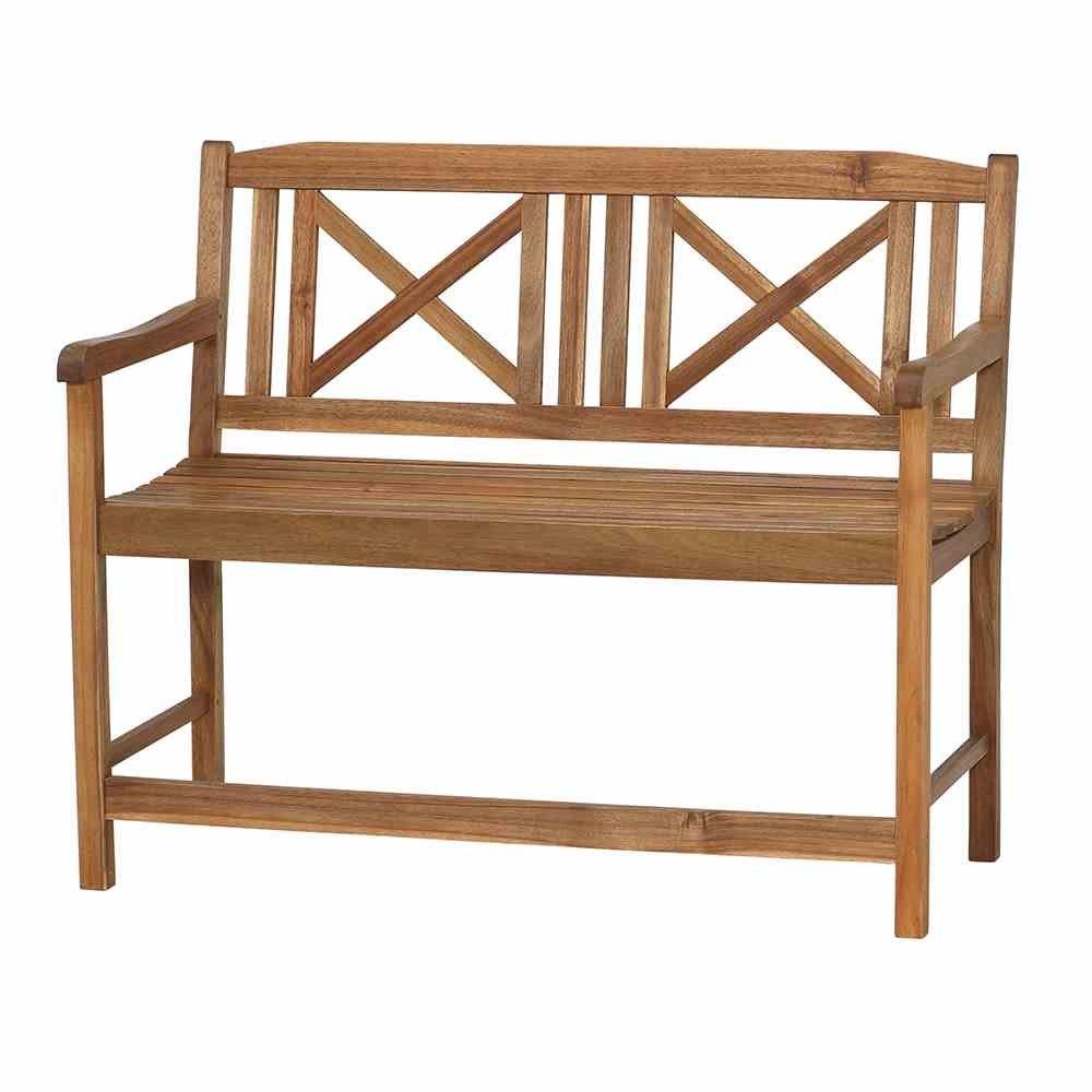 Siena Garden 254823 2er Bank Serena Akazienholz FSC® 100% geölt Hochsitz Beschläge aus galvanisiertem Stahl