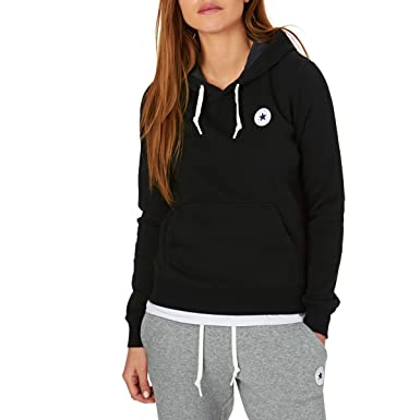 Converse Sweater Damen CORE Hoodie 10004543 Schwarz 001