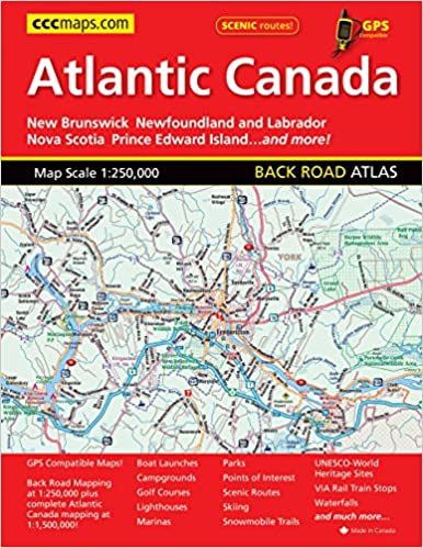 Complete Map Of Canada.Atlantic Canada Back Road Atlas Mapart Publishing Mapart