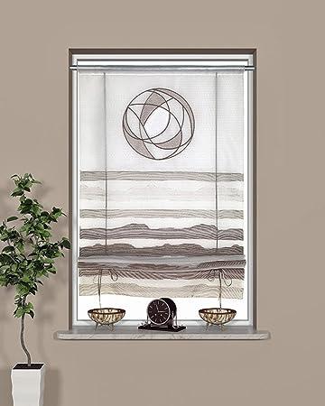 Tenda a pacchetto bianco grigio trasparente 60 x 135 cm \