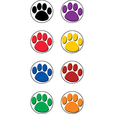 Teacher Created Resources Colorful Paw Prints Mini Stickers (4819): Office Products