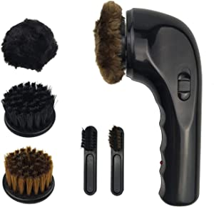 Electric Shoe Shine Kit, Portable Handheld Electric Shoe Polisher Brush Shoe Shiner Dust Cleaner Wireless Leather Care Kit for Shoes, Bags, Sofa