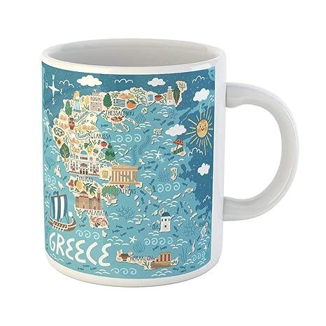 Amazon.com: Semtomn Funny Coffee Mug Vector Stylized Map of ... on best maps of switzerland, best maps of france, best maps of nepal, best maps of russia, best maps of ireland, best maps of togo, best maps of portugal, best maps of germany, best maps of italy, best maps of haiti, best maps of england, best maps of india, best maps of thailand, best maps of canada, best maps of bavaria, best maps of spain,