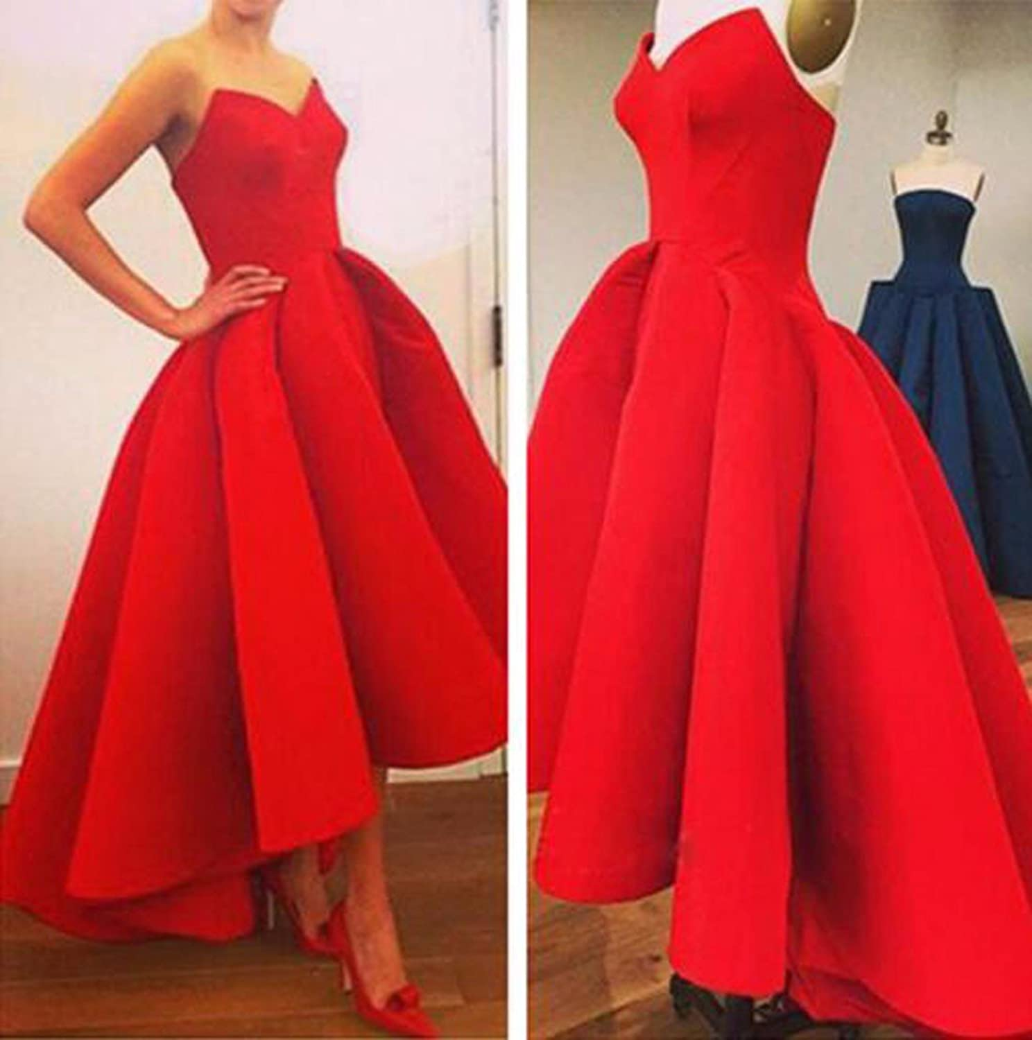 Off Shoulder V Neck Pleated Ruched Evening Party Ball Skater Swing Dress Prom at Amazon Womens Clothing store: