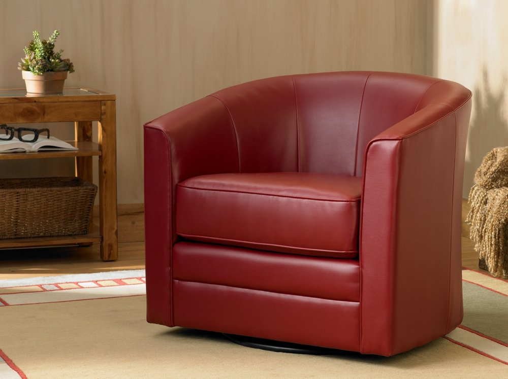 Keller Scarlet Bonded Leather Swivel Club Chair Amazon.co.uk Kitchen u0026 Home & Keller Scarlet Bonded Leather Swivel Club Chair: Amazon.co.uk ...