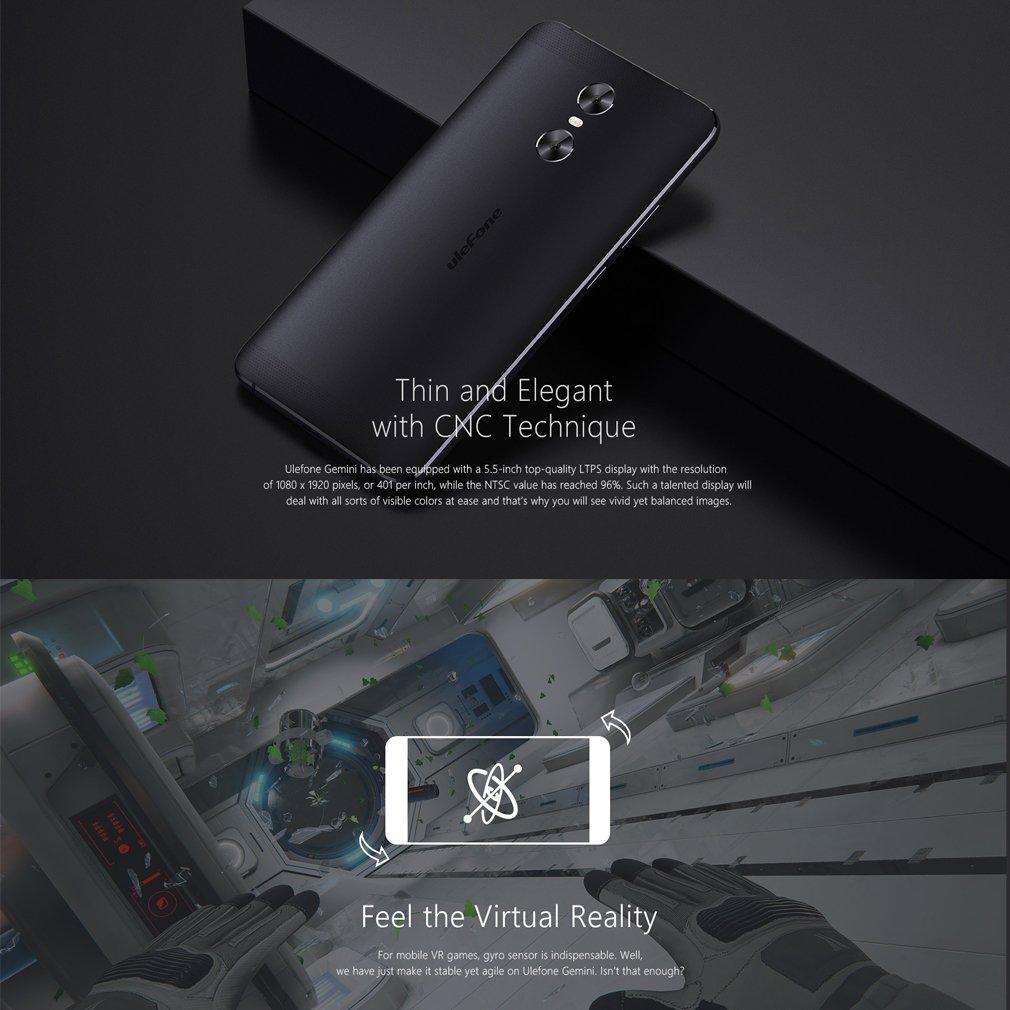 Ulefone Gemini - 4G Smartphone Libre (Android 6.0, 5.5