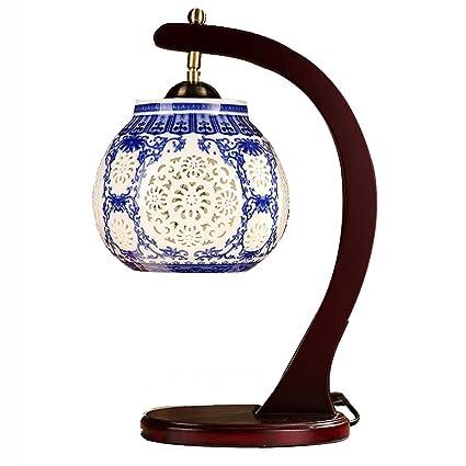 Wsxxn Lámpara de Mesa clásica de cerámica China Lámpara de ...