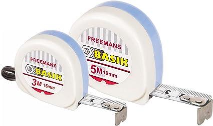 FREEMANS Basik 3m:16mm Measuring Tape + Basik 5m:19mm Measuring Tape