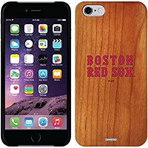 fashion case iphone 5c Madera Wood Thinshield Case with Boston Red Sox Text Design