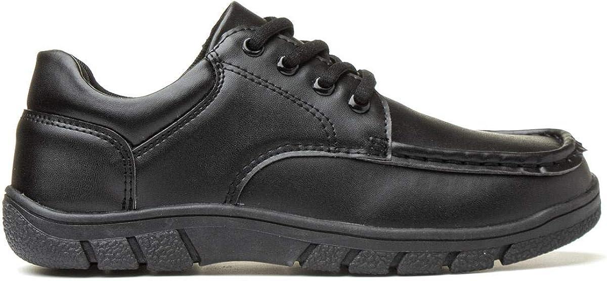 Trux Boys Black Lace Up Flat Shoe