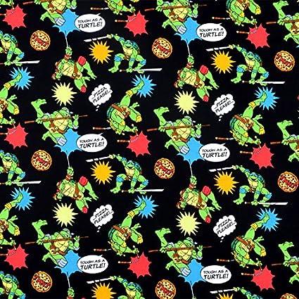 Springs Creative Nickelodeon Teenage Mutant Ninja Turtles Pizza Toss Fabric - By the Yard
