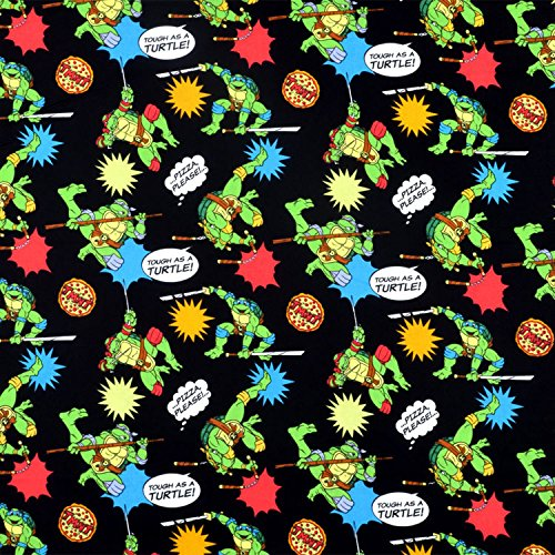 Springs Creative Nickelodeon Teenage Mutant Ninja Turtles Pizza Toss Fabric - By the Yard