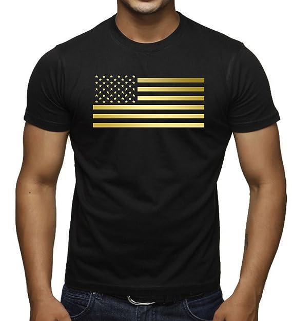 Amazon.com: Reflectante Oro Bandera de Estados Unidos de los ...