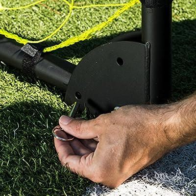 Franklin Sports Premier Black Folding Steel Soccer Goal