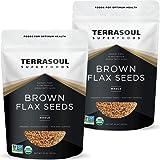 Terrasoul Superfoods Organic Brown Flax Seeds, 4 Lbs (2 Pack)