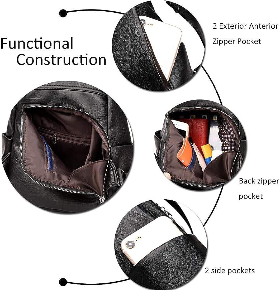 Details about  /Simple Shoulderbag Backpack Wild Winter Women Shoulder Real Leather Rucksack DS