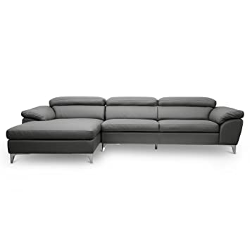 Surprising Baxton Studio Voight Modern Sectional Sofa Gray Camellatalisay Diy Chair Ideas Camellatalisaycom