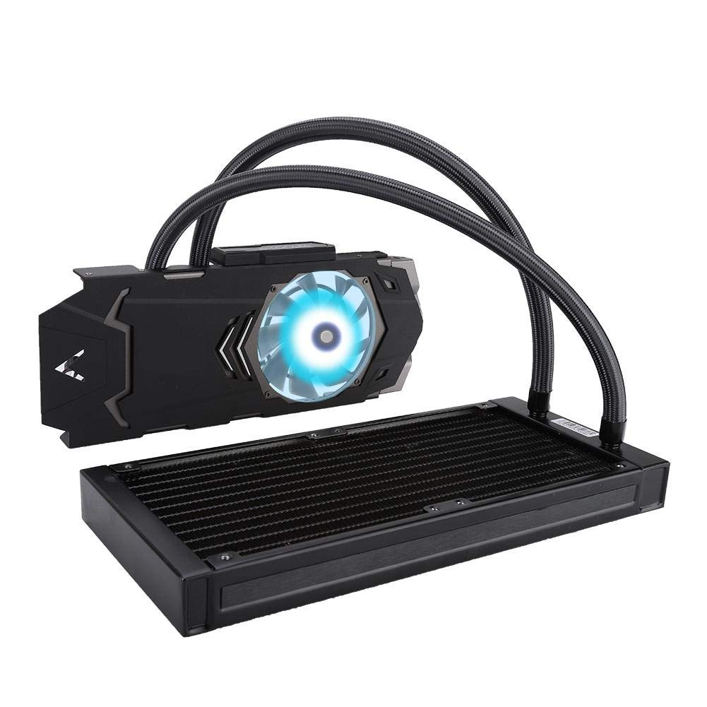 Vbestlife Graphics Card Water Cooling Radiator Kit, 240VGA-RGB 900-2000 RPM Video Card Integrated Water Cooling Radiator for Graphics Card by Vbestlife