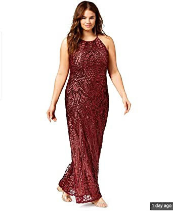 Amazon Com Morgan Co Burgundy Sequin Evening Gown Dress Prom Wedding Plus Size 24 24w 26 Clothing,Wedding Guest White Lace Dress Styles In Ghana