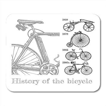 Almohadillas para mouse Evolución de la bicicleta en los tipos de ...