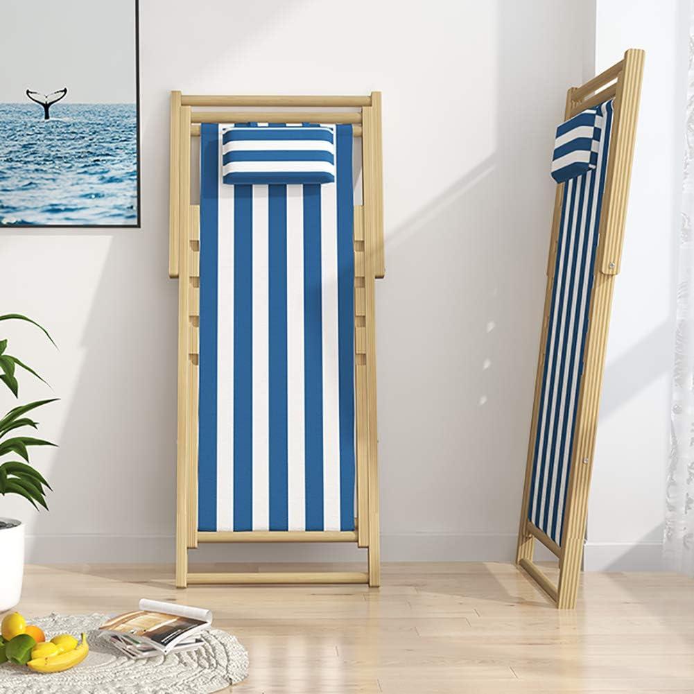 TriGold Pieghevole Portatile Sedia A Sdraio Legno,Spiaggia Leggera Sedia con Bracciolo,Reclinabile Regolabile per Uso Interno per Campeggi Allaperto