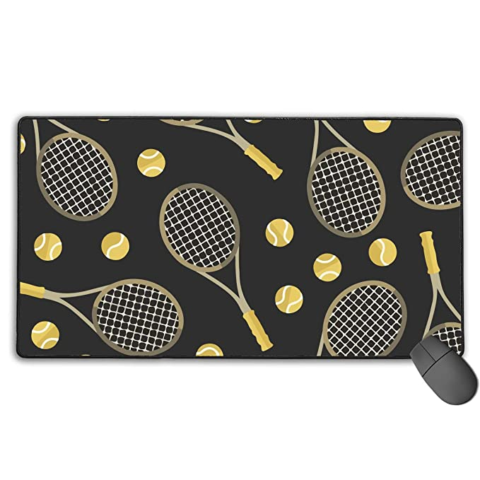 Amazon.com : Mouse Pad with Durable Stitched Edges Gaming Mouse Mat for Laptop Work - Funny Colourful Tennis Racquets and Tennis Balls, Mouse Pad Cute Mouse ...