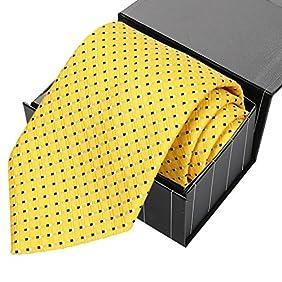 KissTies Mens Extra Long Necktie Tall Man Tie + Gift Box (63'' XL)