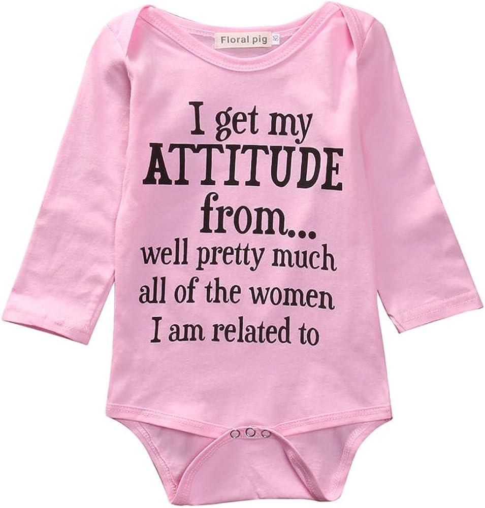 Newborn Baby Girls Bodysuit,Baby Shower Gift Baby Girl Clothes Pink