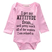 Newborn Infant Baby Girls Cotton Bodysuit Romper Jumpsuit Clothes Outfits (0-3Months)