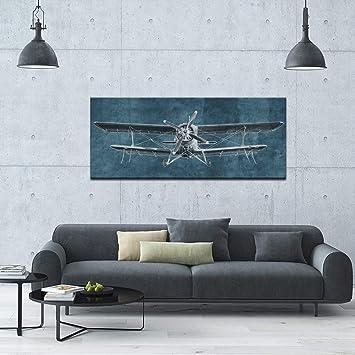 Amazon.com: LevvArts - Large Canvas Prints Painting Airplane ...