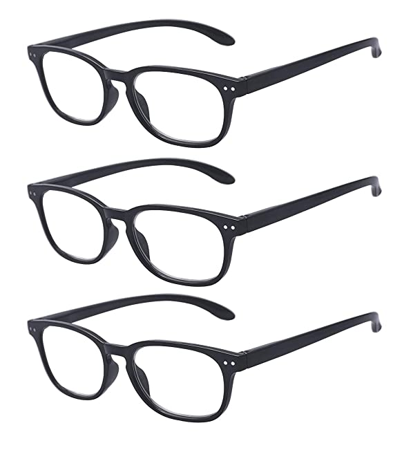 61e40f80b75e Amazon.com: Outray Vintage Inspired 3 Pack Rectangle Metal Hinges Frame  Reading Glasses: Clothing