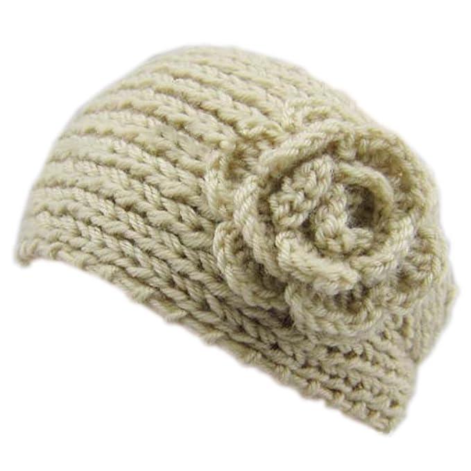 JTC Damen Stirnband Haarband Ohrenschützer Kopfband Warm (Beige ...
