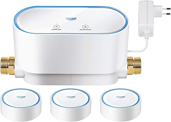 Grohe Sense Guard - Kit de controlador de agua inteligente y 3 ...