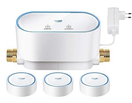Grohe Sense Guard - Kit de controlador de agua inteligente y 3 sensores de agua,