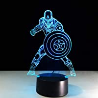 3D Illusion light Captain America