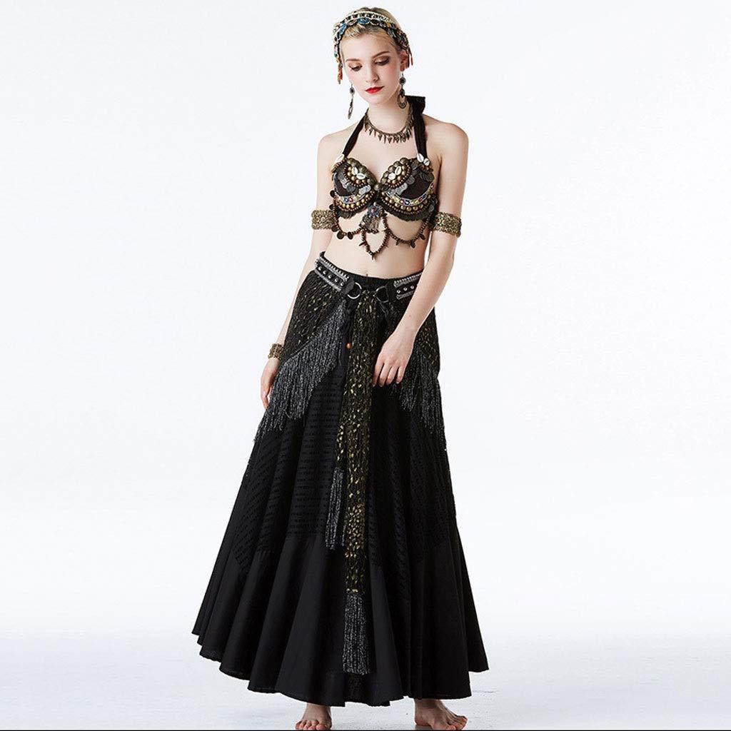 多様な ベリーダンス衣装部族の風パフォーマンスセット女性の古典的な民族舞踊のドレススリーピースセット s B07PBB168R S s ブラック S ブラック S S s, 喜界町:0ba50100 --- a0267596.xsph.ru