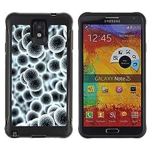 Suave TPU GEL Carcasa Funda Silicona Blando Estuche Caso de protección (para) Samsung Note 3 / CECELL Phone case / / Cells Molecul Enlarged Grey Wallpaper /