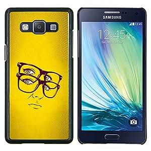 Jordan Colourful Shop - Glasses Hipster Chic Yellow Woman Portrait Sexy For Samsung Galaxy A5 A5000 A5009 Personalizado negro cubierta de la caja de pl????stico