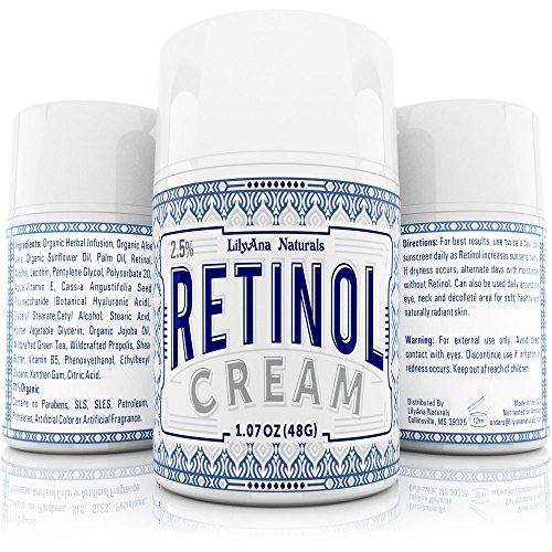 retinol cream moisturizer for face and eyes use day and night for anti aging acne wrinkles. Black Bedroom Furniture Sets. Home Design Ideas