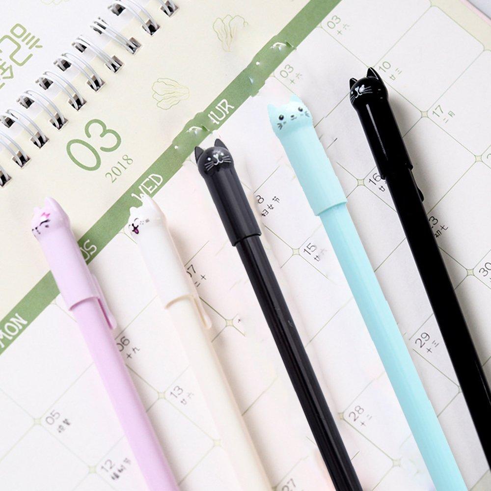 15cm Niedliches Kitty Shaped Gel Pen 3 Farben Büro Schule Schreibwaren//