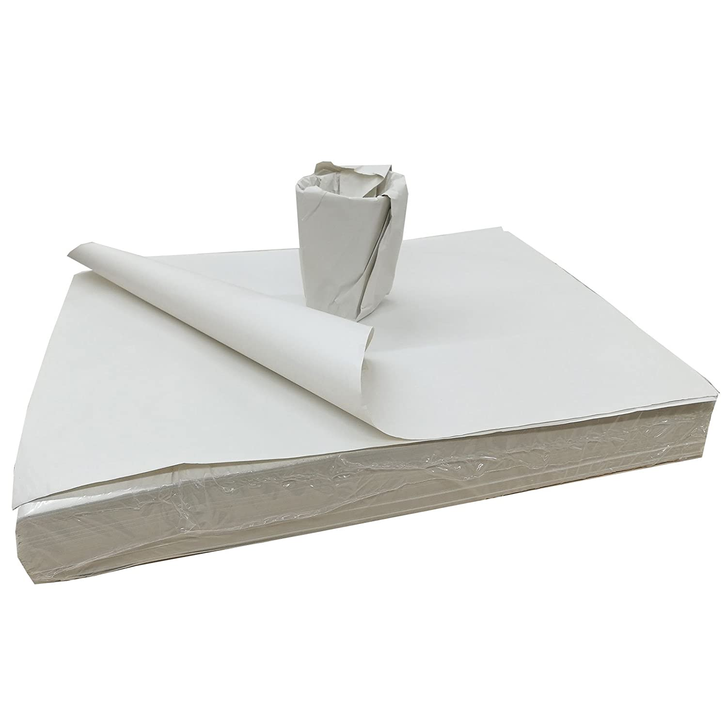 """500 Sheets Of WHITE PACKING PAPER Wrapping Food 15/""""x20/"""" Newspaper Offcuts"""