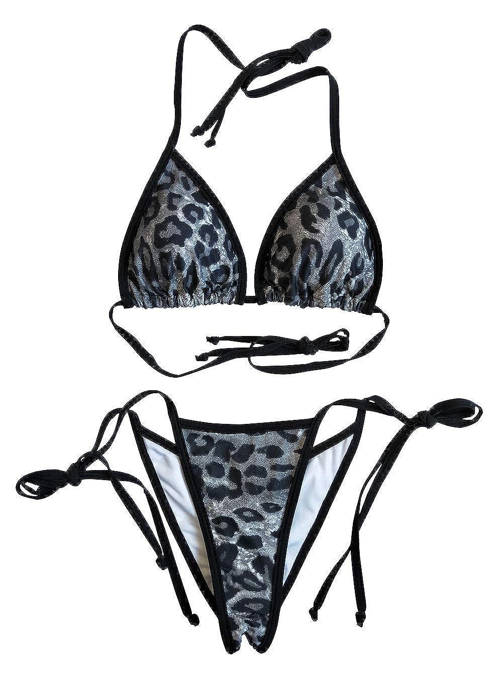 LE BESI Womens Mini Fashion Elegant Inspired Swimsuit Bikini Top Bottom /…
