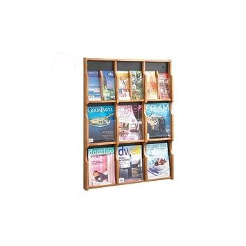 Displaysense Wooden 18 Pocket Dl A4 Leaflet Holder Wall Mounted
