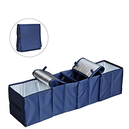 Cozyswan Collapsible Car Trunk Organizer Fabric Auto Trunk Storage Container Foldable Multi 4 Compartments Fabric  sc 1 st  Amazon.com & Amazon.com: Cozyswan Collapsible Car Trunk Organizer Fabric Auto ...